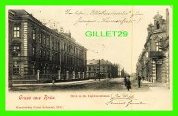 RRUX, TCHÉQUIE - BLICK IN DIE TEPLITZERSTRASSE - TRAVEL IN IN 1903 - FRANZ SCHUSTER - ANIMATED - - Tchéquie