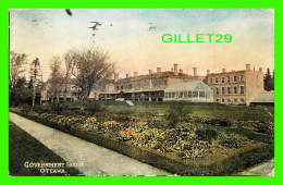 OTTAWA, ONTARIO - GOVERNMENT HOUSE - TRAVEL IN 1909 - 3/4 BACK -  W,.G. MACFARLANE PUB. - - Ottawa