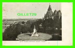 OTTAWA, ONTARIO -QUEEN VICTORIA MONUMENT - SPARKLES - 3/4 BACK -  BASIL REID, BOOKSELLER - - Ottawa