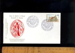 Enveloppe BOURG EN BRESSE Ain Eglise De Brou Seau De Sybille De Baugé Comtesse De Savoie 1972 Rattachement De La Bresse - Commemorative Labels