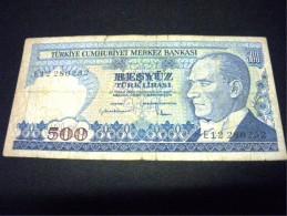 TURQUIE 500 Lirasi 1970 -1983,pick N°195,TURKEY - Turchia