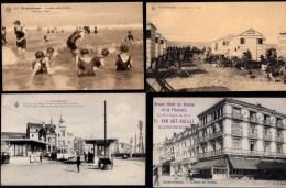 4 X BELLE CARTE BLANKENBERGHE - Tram - Hotel - Cabines - Mode De Plage - Blankenberge