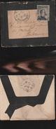 DOC2) MICHETTI CENTESIMI 15 SU LETTERA LISTATA A LUTTO VIAGGIATA 1911 CIRCA - 1900-44 Vittorio Emanuele III