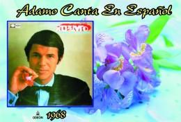 Carte Postale, Célébrités,  Chanteurs, Belgium, Full Collection Salvatore Adamo, 1968, Adamo Canta En Español - Sänger Und Musikanten