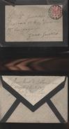 DOC2) CENTESIMI 10 SU LETTERA LISTATA A LUTTO VIAGGIATA 1917 DA PALERMO VERSO ZONA DI GUERRA - 1900-44 Vittorio Emanuele III