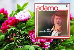 Carte Postale, Célébrités,  Chanteurs, Belgium, Full Collection Salvatore Adamo, 1976, A La Place Des Arts - Sänger Und Musikanten