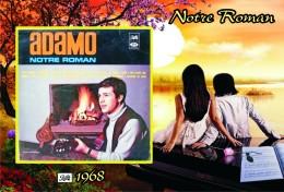 Carte Postale, Célébrités,  Chanteurs, Belgium, Full Collection Salvatore Adamo, 1968, Notre Roman (Canada) - Zangers En Musicus