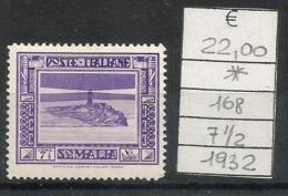 1932 SOMALIA  7 1/2 Nuovo * MLH - Somalie