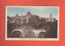 * CPA..dépt 18..CULAN :  Le Pont , Route Sur L' Arnou - Château - Eglise :  Voir Les 2 Scans - Culan
