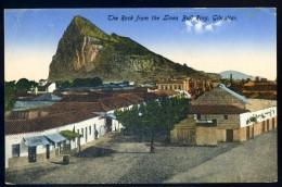 Cpa De Gibraltar  -- The Rock From The Linea Bull Ring      JIP20 - Gibraltar