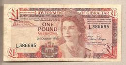 Gibilterra - Banconota Circolata Da 1 Sterlina - 1986 - Gibilterra