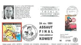 """MILITARIA - OPERATION """"DAGUET"""" - ASSAUT FINAL POUR LIBERE LE KOWEIT - 24 FEVRIER 1991 - - Postmark Collection (Covers)"""