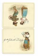 MENU De Septembre 1889.. ENFANT, CYMBALES, TAMBOURIN, DANSE - Menu