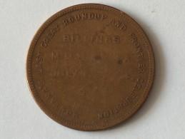 Jeton Montana's Last Great Roundup And Frontier Celebration 1 2 3 4 JULY 1915 - Jetons & Médailles