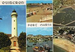 Phares.. Le Phare De Port-Maria La Plage Le Port Presqu'île De Quiberon - Lighthouses