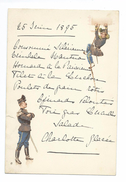 MENU Du 25 Juin 1895... Illustrateur F.C..MILITAIRE - Menus