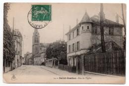 CPA - SAINT-GRATIEN - RUE DE L'EGLISE - N/b - 1910 - - Saint Gratien