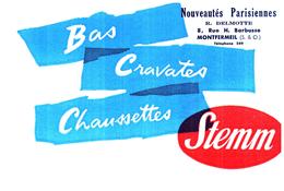 Ch St/Buvard Chaussettes Stemm  (N= 1) - Buvards, Protège-cahiers Illustrés