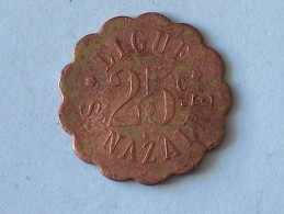 Jeton Ligue Saint Nazaire 25 Cent - Monétaires / De Nécessité