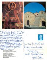Byzantine Church, Rhodes, Greece Postcard Posted 2010 Stamp - Grecia