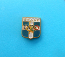 GREECE NOC (NATIONAL OLYMPIC COMMITTEE ) Pin Badge O. Games Jeux Olympiques Olympia Olympiade Juegos Olímpicos Olimpiadi - Olympic Games