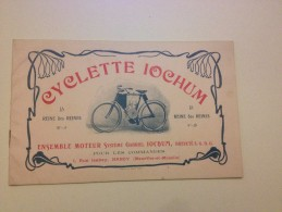 CYCLETTE IOCHUM, Catalogue De Vente, Vers 1900,LA REINE DES REINES - Publicités