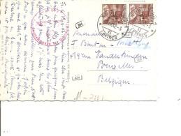 Suisse ( CP En Censure De 1942 De Fribourg Vers La Belgique à Voir) - Svizzera