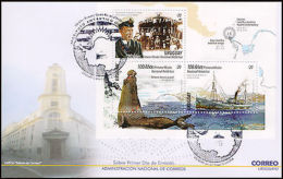 ANTARTICA-FDC-URUGUAY-2016-100 YEARS OF FIRST NATIONAL ANTARTIC MISSION- - Uruguay