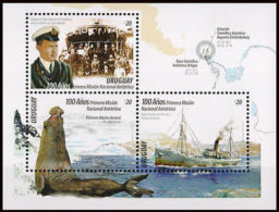 ANTARTICA-STAMPS-URUGUAY-2016-100YEARS OF FIRST NATIONAL ANTARTIC MISSION- - Non Classés