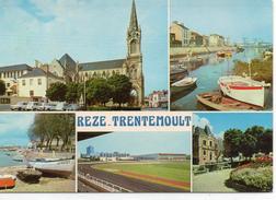 Rezé-Trentemoult.. Belle Multi-vues L'Eglise Le Port De Trentemoult Le Stade Sport Foot - Otros Municipios