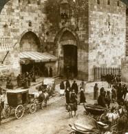 Palestine Jerusalem Porte De Jaffa Ancienne Photo Stereo Underwood 1896 - Stereoscopic