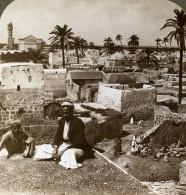 Palestine Israel Lod Panorama Lydda Ancienne Photo Stereo Underwood 1900 - Stereoscopic