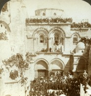 Palestine Israel Jerusalem Saint Sepulchre Ancienne Photo Stereo Underwood 1897 - Stereoscoop
