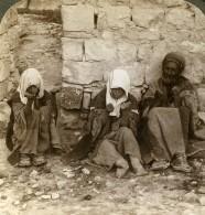 Palestine Jerusalem Infortunes Lepreux Ancienne Photo Stereo Underwood 1897 - Stereoscopic