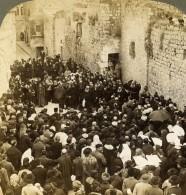 Palestine Jerusalem Via Dolorosa Pelerinage Ancienne Photo Stereo Underwood 1897 - Stereoscopic