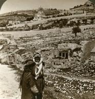 Palestine Jerusalem Tombeau Des Prophetes Kedron Ancienne Photo Stereo Underwood 1903 - Stereoscopic
