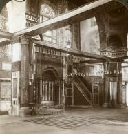 Palestine Jerusalem Mosquée Al-Aqsa Chaire Ancienne Photo Stereo Underwood 1896
