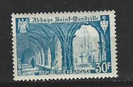 "Yt 888 "" Abbaye St-Wandrille Bleu Clair "" 1951 Neuf **"