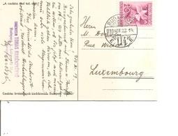 Hongrie ( CP De 1939 De Budapest Vers Le Luxembourg à Voir)
