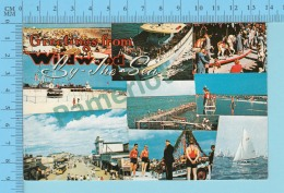Greetings From - Wildwood By The Sea  , Multiview - USA - 2 Scans - Souvenir De...