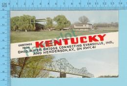 Greetings From - Kentucky  Ohio River Bridge ... , Multiview - USA - 2 Scans - Souvenir De...