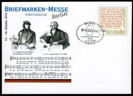 39282) BRD - Ganzsache Michel USo ? - EVST 53113 BONN Vom 06.10.2016 - 70C Briefmarken-Messe Berlin - [7] Federal Republic