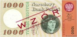 * POLAND 1000 ZŁOTYCH 1965 (1966) P-141s UNC WZOR (SPECIMEN)  [ PL831as1 ] - Poland
