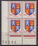 FRANCE 1953 - BLOC DE 4 Y.T. N° 958  - 4 TP NEUFS** FF658 - France