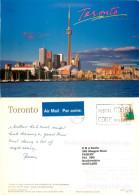 CN Tower, Toronto, Ontario, Canada Postcard Posted 2000 Stamp - Toronto