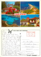 Chalkidiki, Greece Postcard Posted 1998 Private Post Via Brussels - Grecia