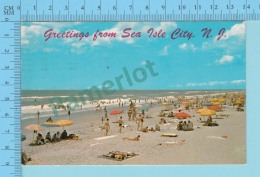 Greetings From - Sea Isle City - New Jersey USA - 2 Scans - Souvenir De...