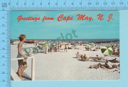 Greetings From - Cape May  -New Jersey USA - 2 Scans - Souvenir De...