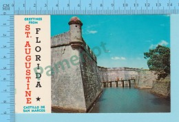 Greetings From - TSt. Augustine Castillo De San Marcos - Florida USA - 2 Scans - Souvenir De...
