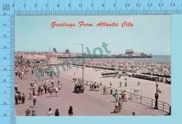 Greetings From - Atlantic City  - New Jersey - USA - 2 Scans - Souvenir De...
